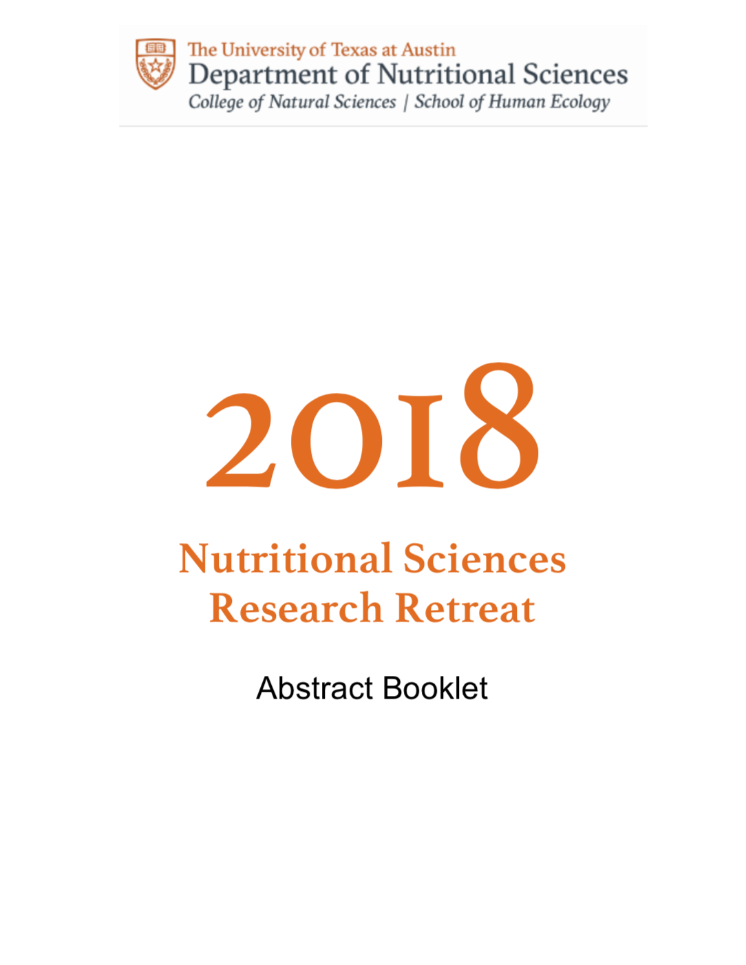2018 Nutrition Research Retreat