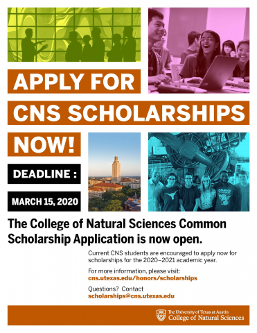 CNS Scholarship Flyer 3.15.20