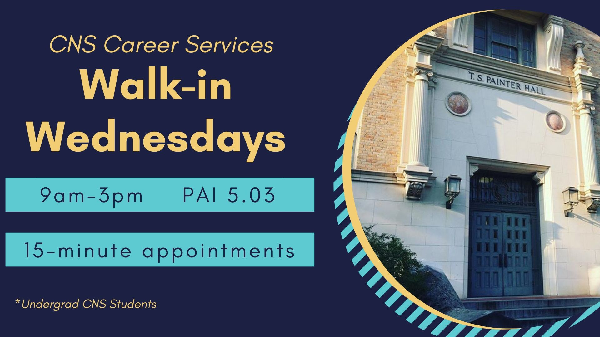 Career Services Walk in Wednesdays