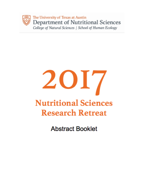 Nutritional Sciences Research Retreat 2017 Cover