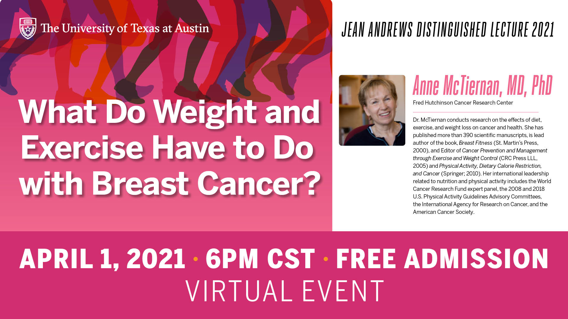 What Do Weight and Exercise Have to Do with Breast Cancer? by Anne McTiernan, M.D., Ph.D.